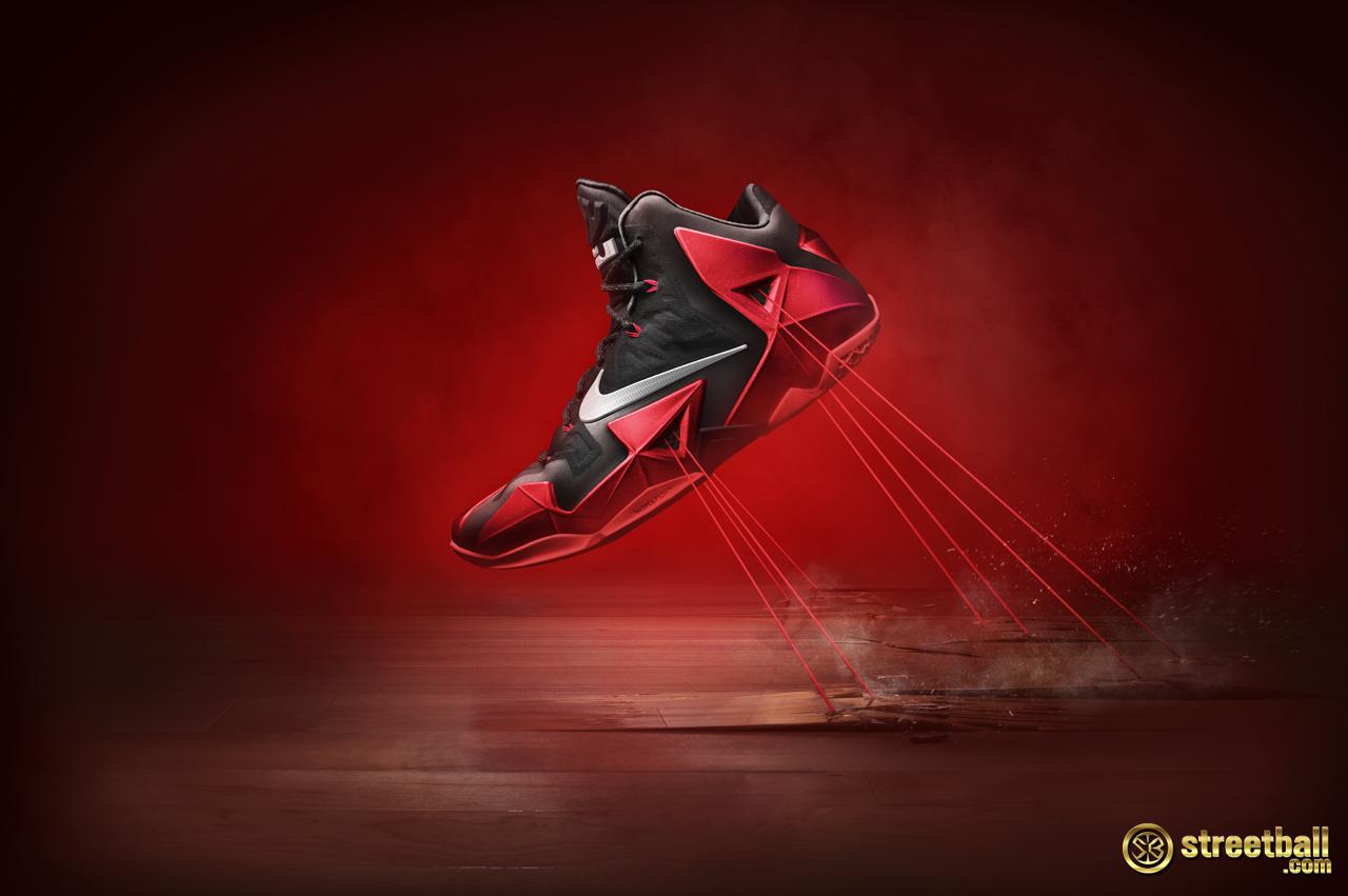 Showcased here on the Nike LeBron Nike Hyperposite technology redefines the  breakthrough Foamposite upper that encases Lebron James Cavs Wallpapers ...