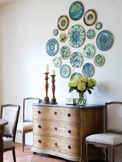 How To Arrange A Decorative Plate Wall Plates On Wall Plate Wall Decor Decor