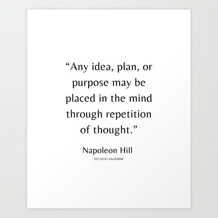 23 | Napoleon Hill Quotes| 210104| Success Business Inspiring Manifesting Affirmation Motivational Art Print by Wordz