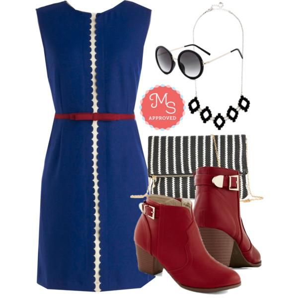 Dew Diligence Dress, Garage Band Together Bootie In Red