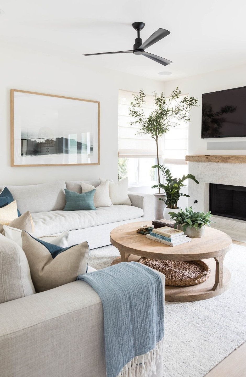 Home Decoration Romantic Home Decoration Romantic Fireplaceremodel Home Decoration Romantic Home Dec In 2020 Neutral Living Room Home Living Room Living Room Colors