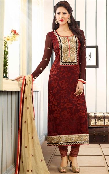 642c7dc2c937 Picture of Culture Coffee Color Party Wear Salwar Suit