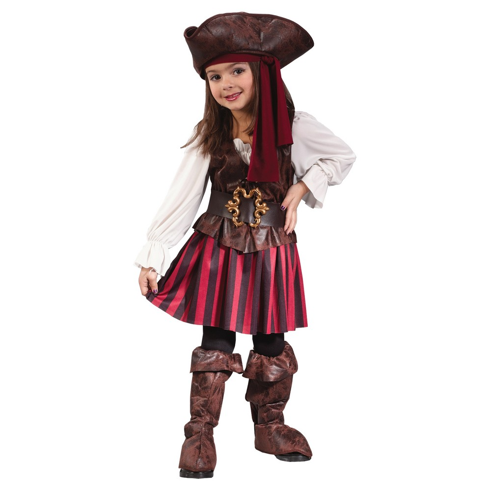 halloween girls high seas pirate toddler costume girl size 3t4t multi colored - 4t Halloween Costumes Girls