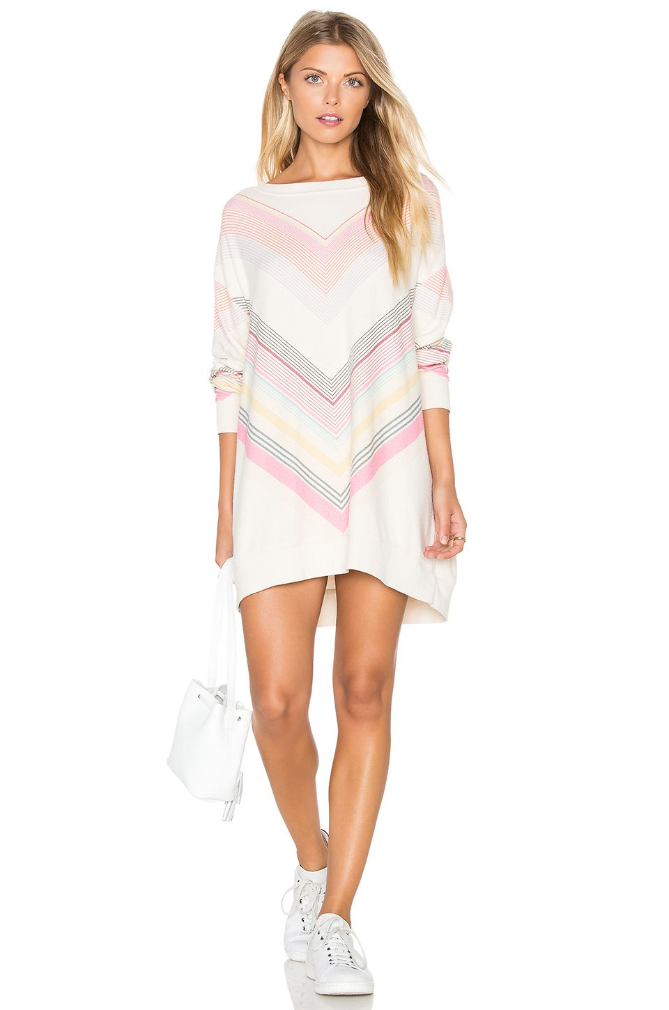 Wildfox Couture Chevron Dreams Sweater in Vanilla Latte | REVOLVE ...