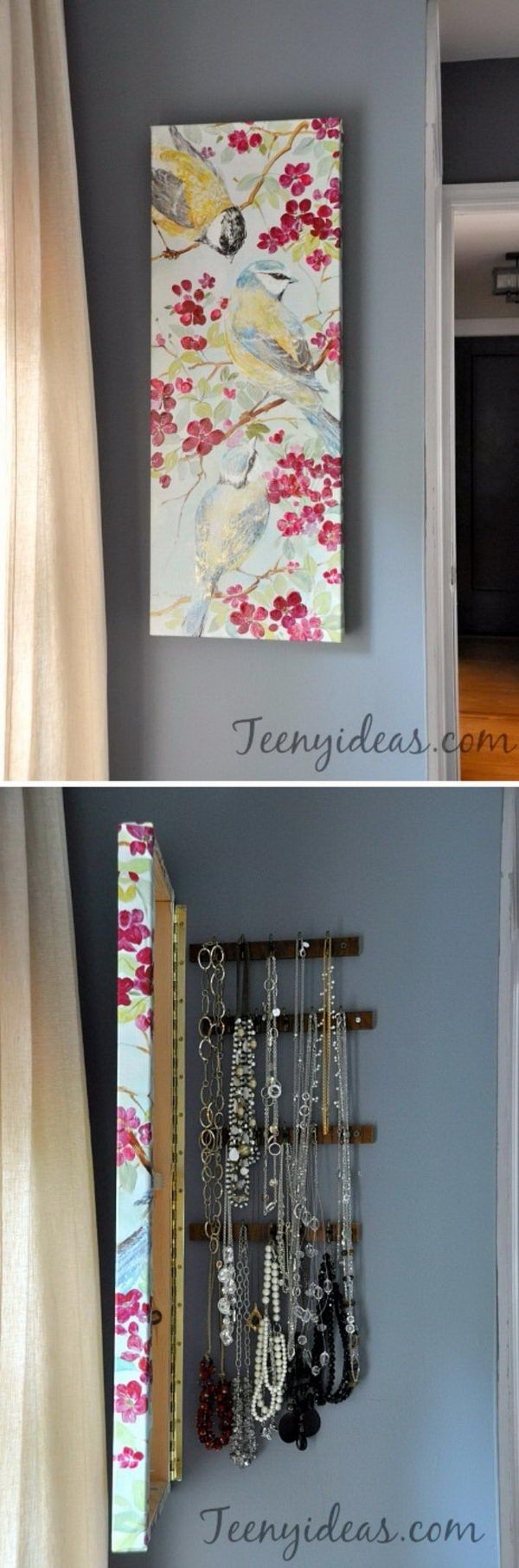 15 chic hidden storage ideas wall canvas jewelry for Hidden storage ideas