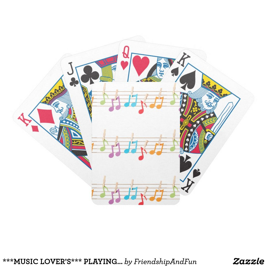 playing cards for the music lovers and card players and playing cardsgreat giftsgreeting