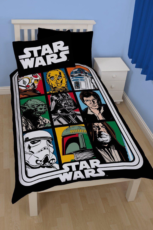 Star Wars Force Einzelbettbezug Set und Kissenbezug - Bettwäsche ...