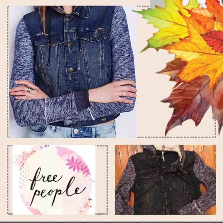 Free People Distressed Denim Jacket - Mercari: Anyone can buy & sell