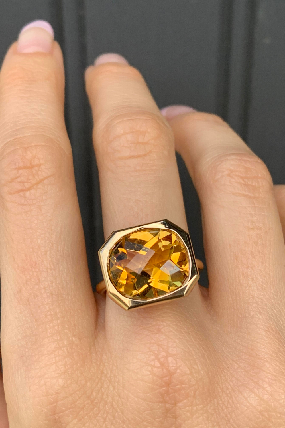 Promise Ring Natural Citrine Faceted Ring Silver Jewelry Natural Citrine Ring Gift For Her Silver Citrine Ring Citrine Cut Ring