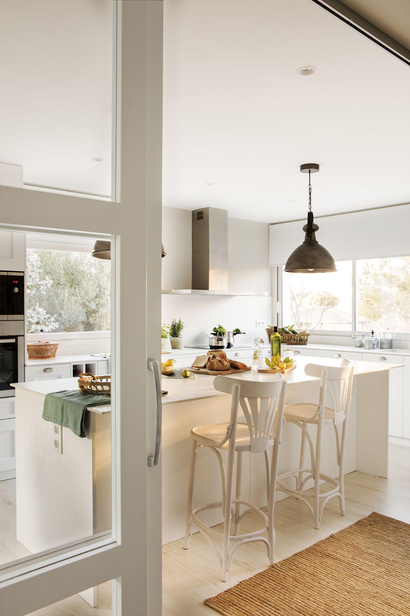 Una cocina al estilo Los Hamptons (con imágenes)  Encimeras de