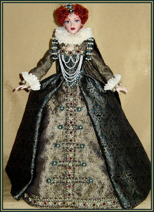 Queen Elizabeth I doll, designed and painted by Janis Kiker of ...