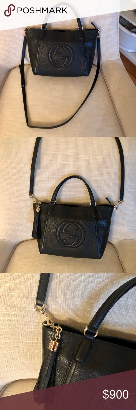 890fcc137eca Gucci Soho Convertible Top Leather Tote Like new. Authentic. Gucci Bags  Crossbody Bags