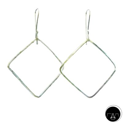 "CONNECTION EARRINGS Blessing: ""...May your thoughts be connected to the four corners of creation..."" #earrings #silver"