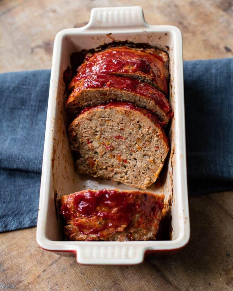 Juicy, flavorful turkey meatloaf seasoned Italian-style ...