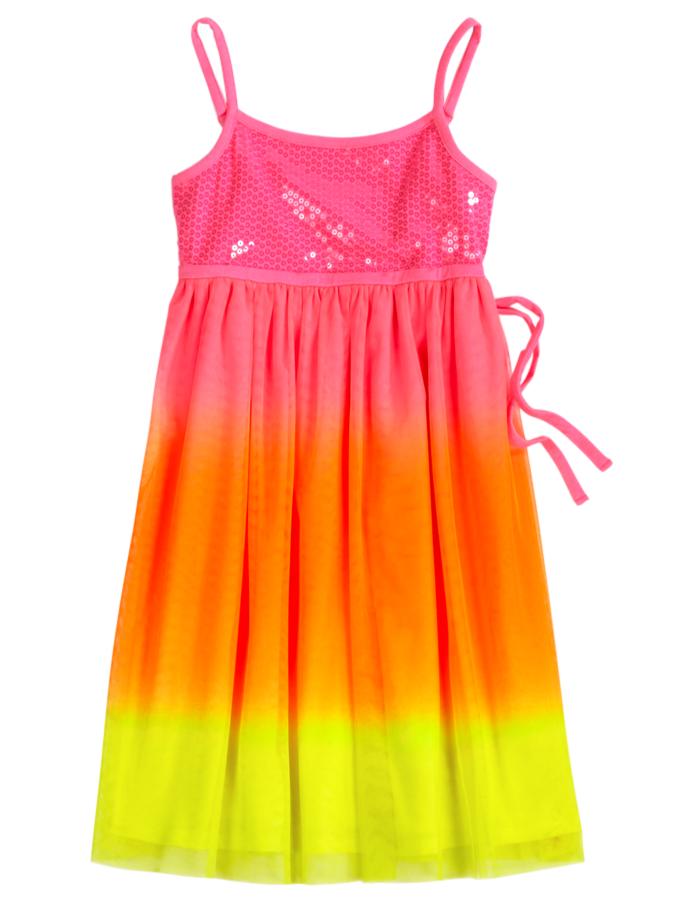 cab333891 Neon Dip Dye Dress