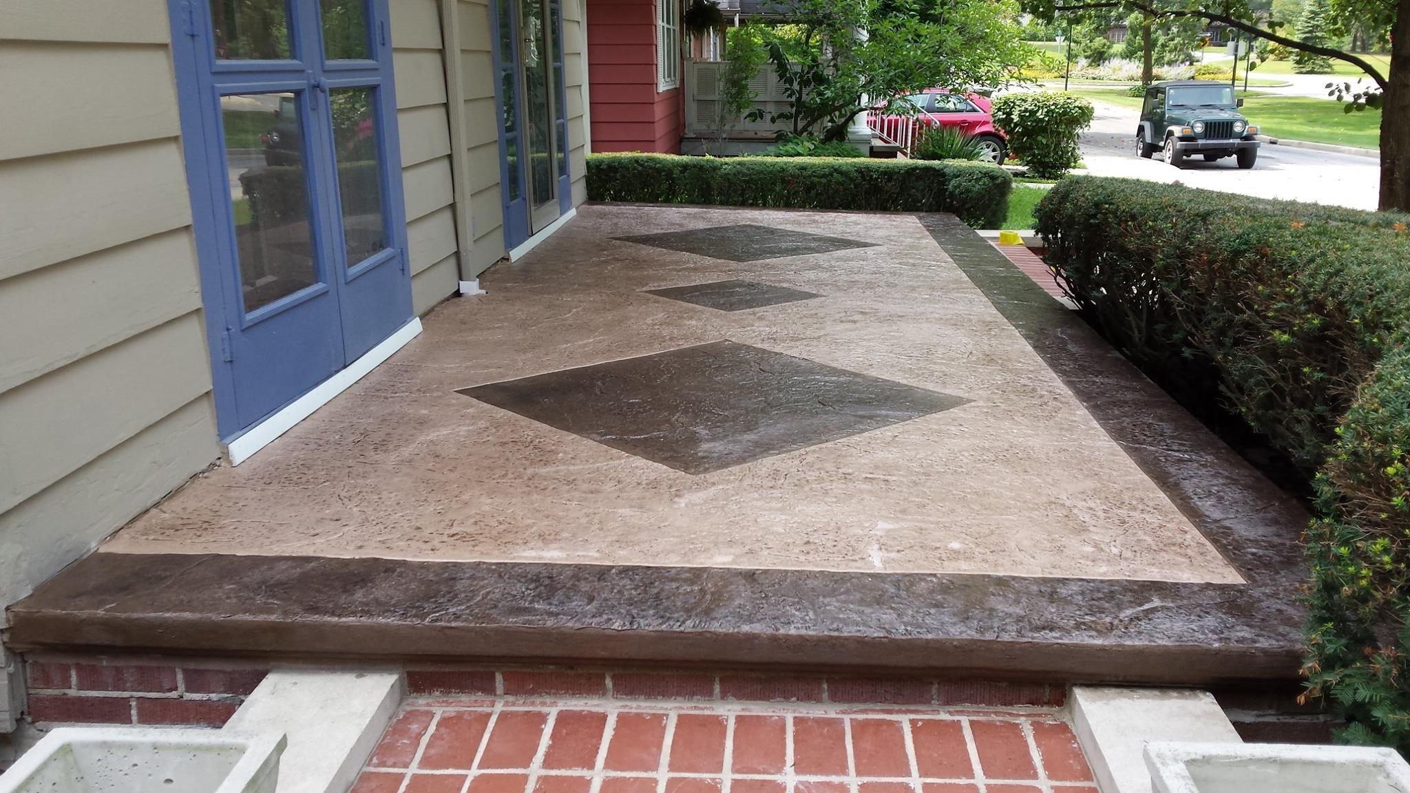 Stamped Concrete Porch Resurfacing Fort Wayne IN   Stamped ...