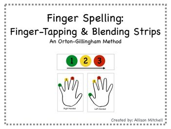 These finger spelling/finger tapping templates serve as an