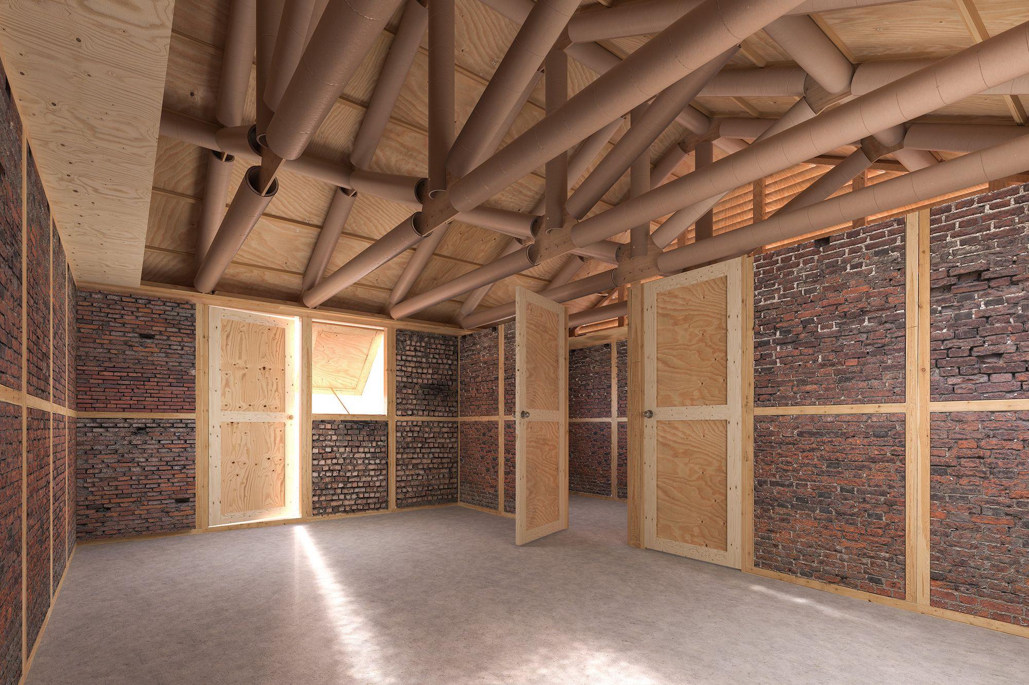 Imagen 4 de 7 de la galería de Refugios de emergencia de Shigeru Ban se construirán a partir de escombros en Nepal. © VAN, cortesía de Shigeru Ban Architects