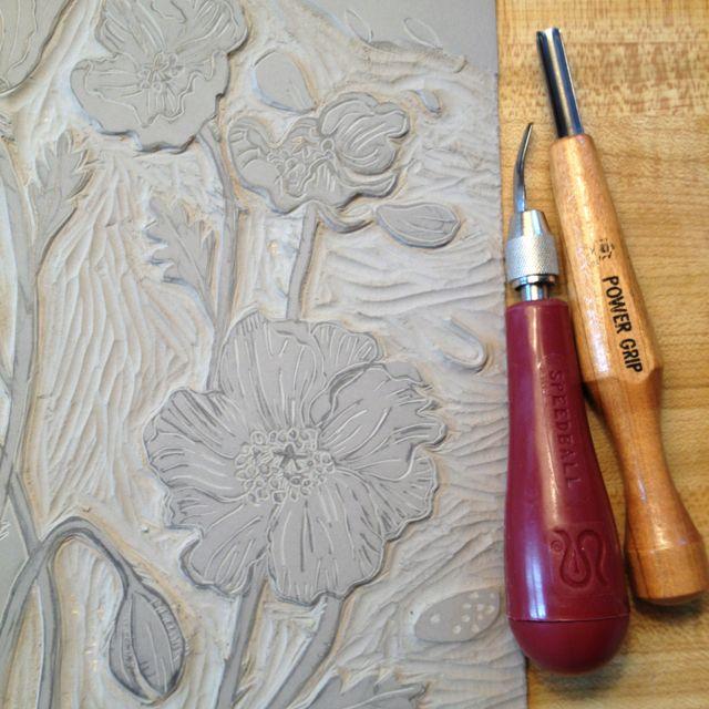 Carving linoleum for printmaking crafty pinterest