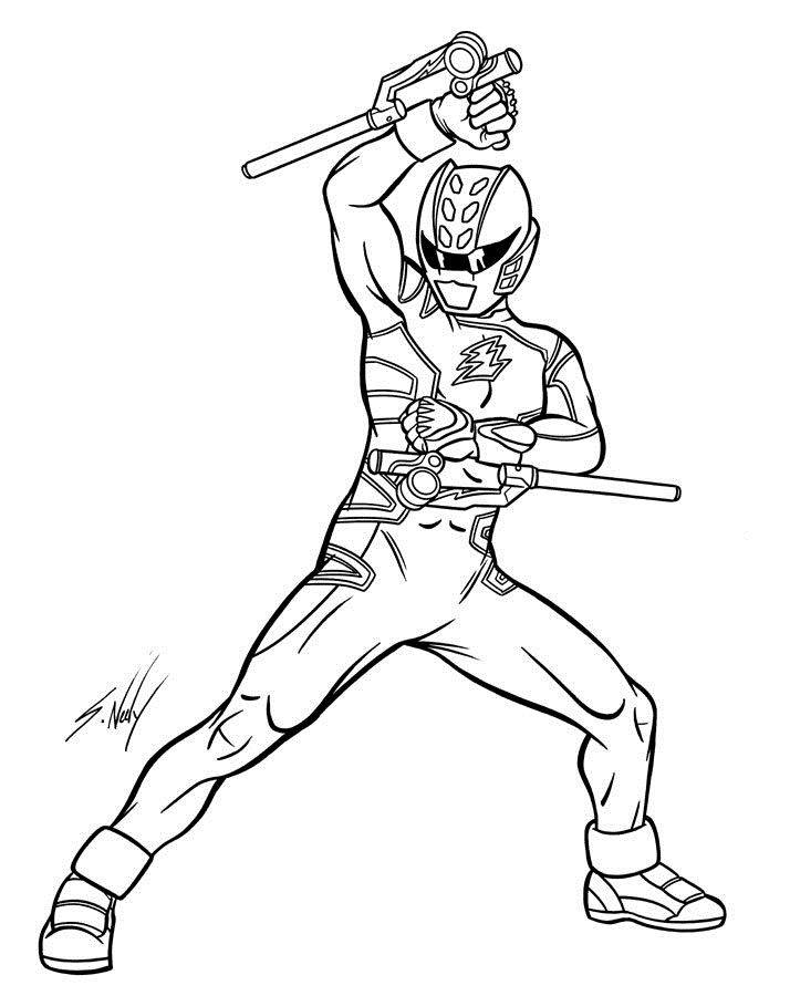 Awesome Power Ranger Coloring Pages To Print