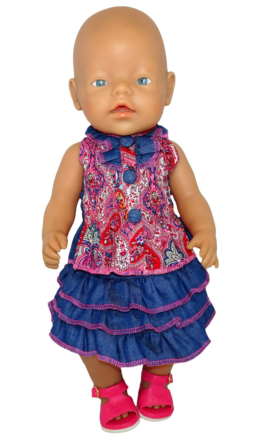 Paisley Top & Skirt Girl doll clothes, Paisley, Doll clothes