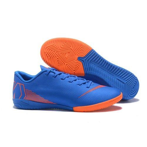 online store 9df9c 2bc2c Socken Schuhe Kaufen Nike Mercurial Vapor XII IC Blau Orange