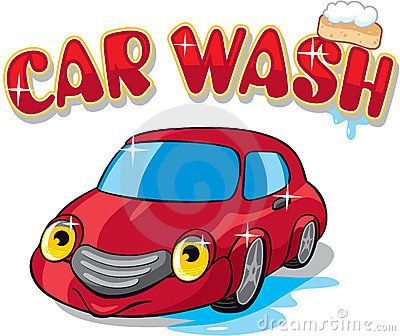 cartoon car with car wash sign including vector format