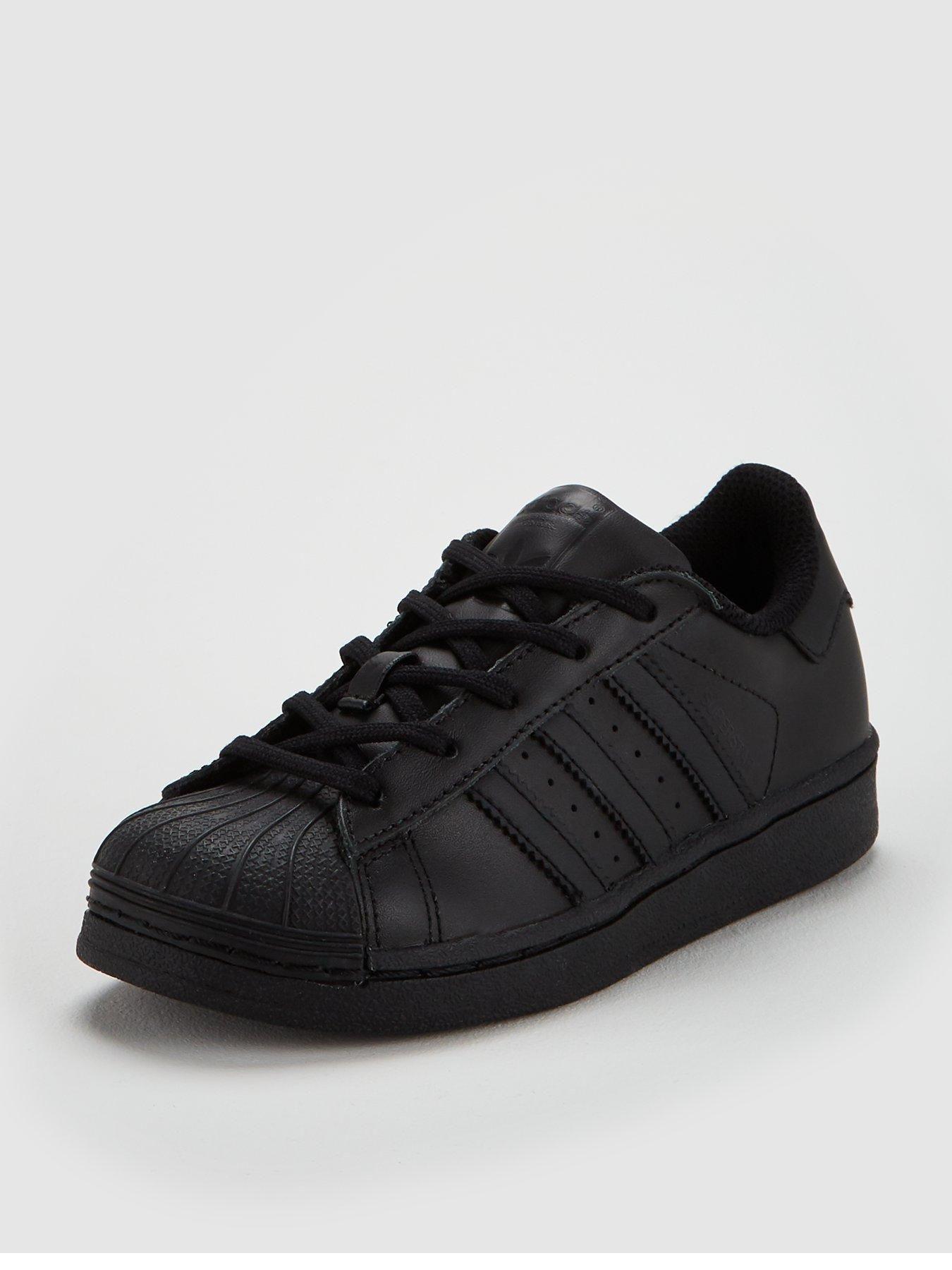 childrens adidas black trainers