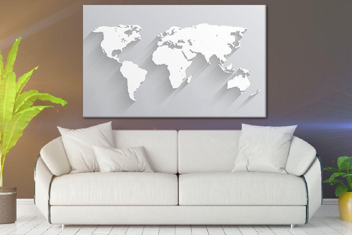 Classic world map print world map art world map canvas map wall art classic world map print world map art world map canvas map wall art world map poster map wall hanging art world map on canvas gumiabroncs Gallery