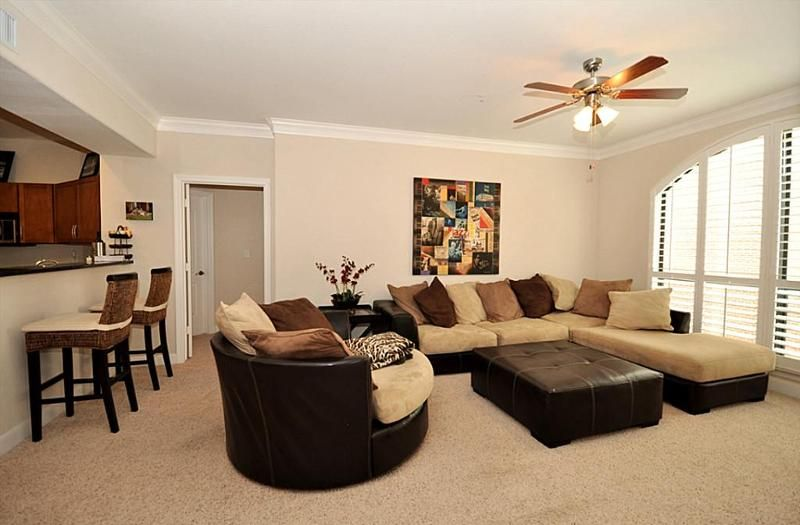 Brown, tan, and black living room!