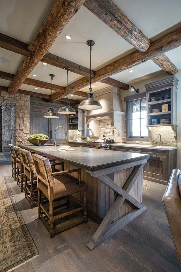 Utah mountain residence features a rustic yet elegant atmosphere ...
