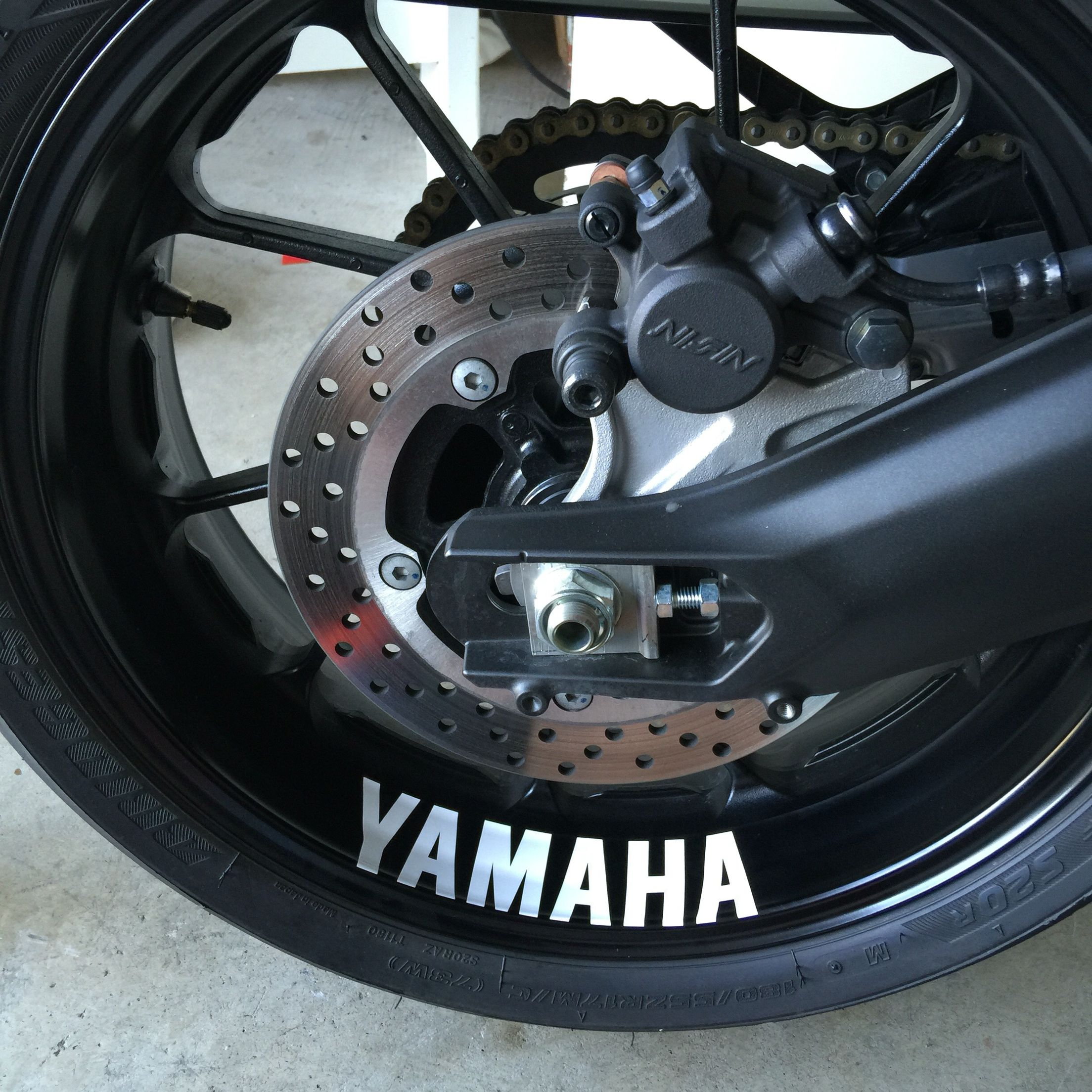 Yamaha rim sticker on my fz 09