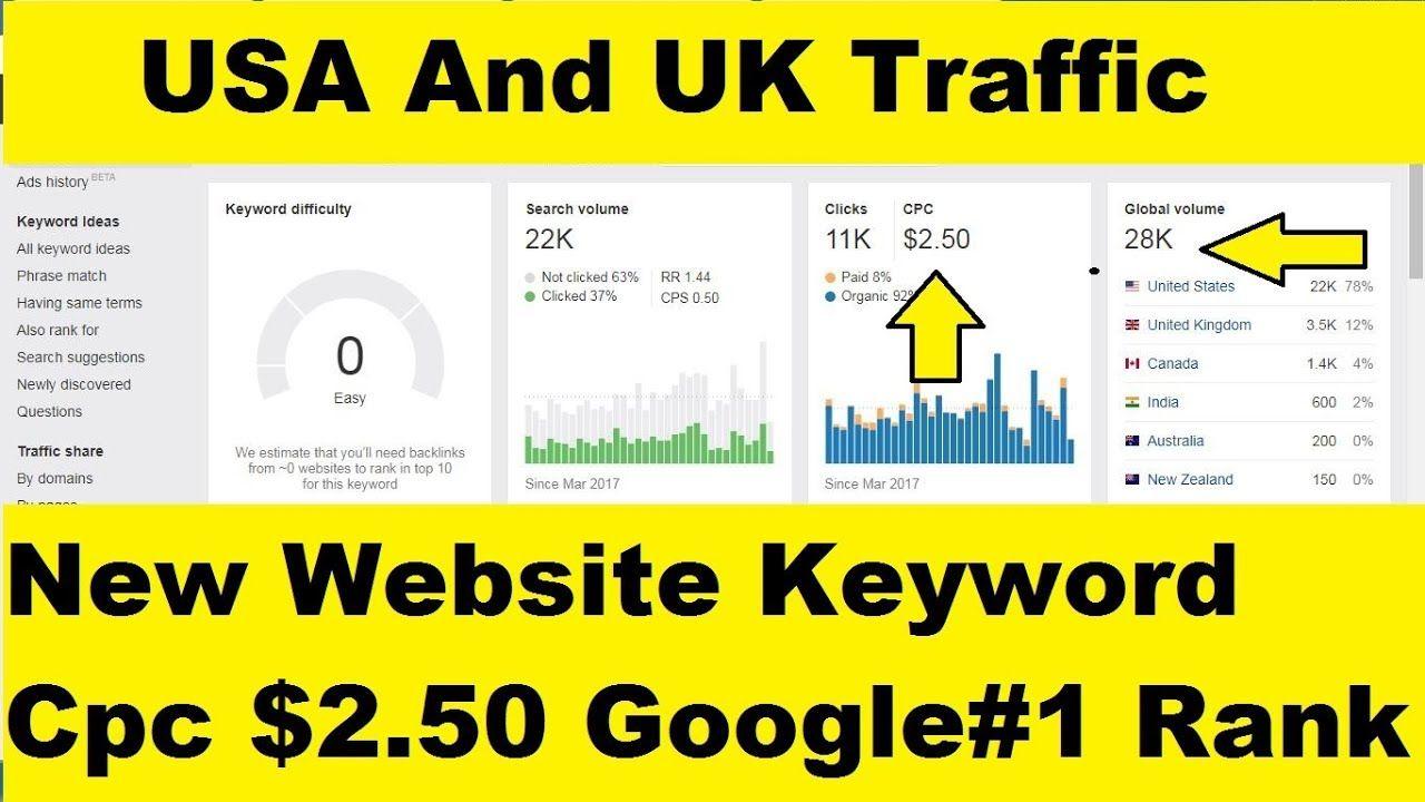 Usa And Uk Traffic Keyword For Blog Website In 2020 Keyword