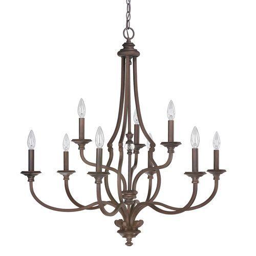 Capital lighting fixture company leigh burnished bronze nine light chandelier on sale