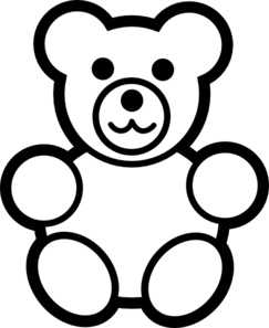 circle teddy bear black and white clip art at clker com vector rh pinterest com