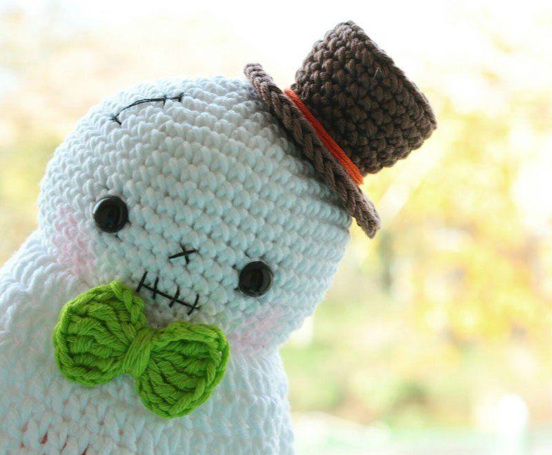 Halloween del fantasma ganchillo amigurumi patrón libre | Crochet ...