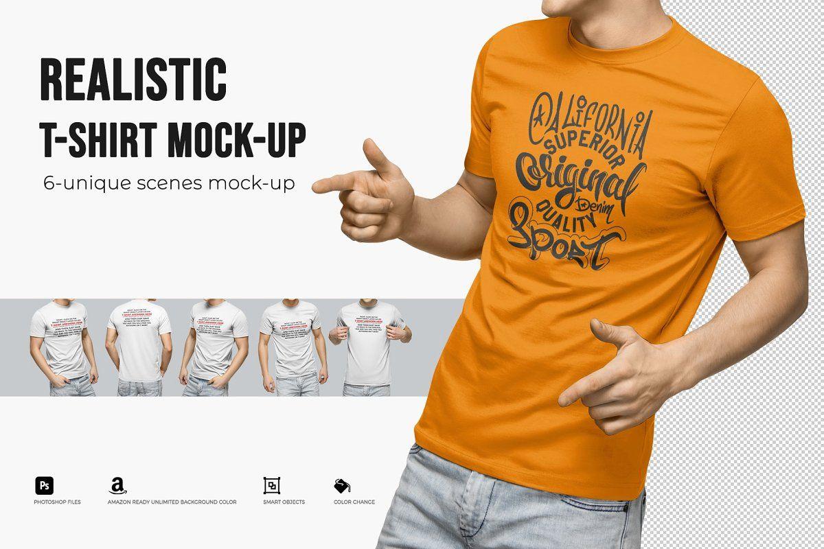 Download Realistic T Shirt Mock Up T Shirt Tshirt Mockup Shirts