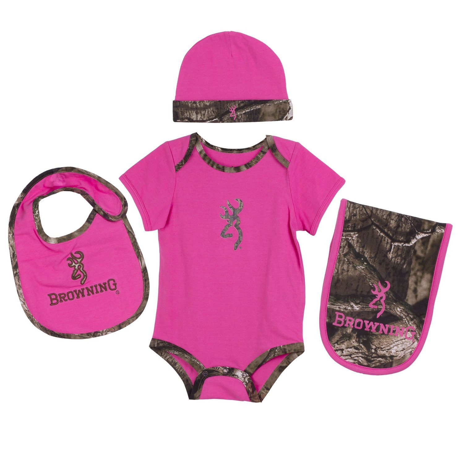 Browning Baby Girls Camo Layette Set Mossy Oak Infinity