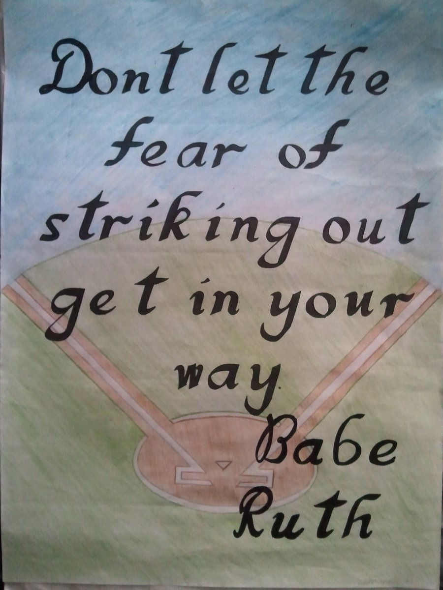 Baseball Quote Babe Ruth  Motivational  Inspirational Quote  Baseball