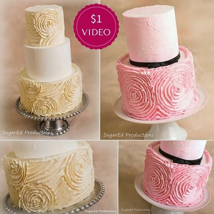 Learn to pipe buttercream ruffled rosettes with ...