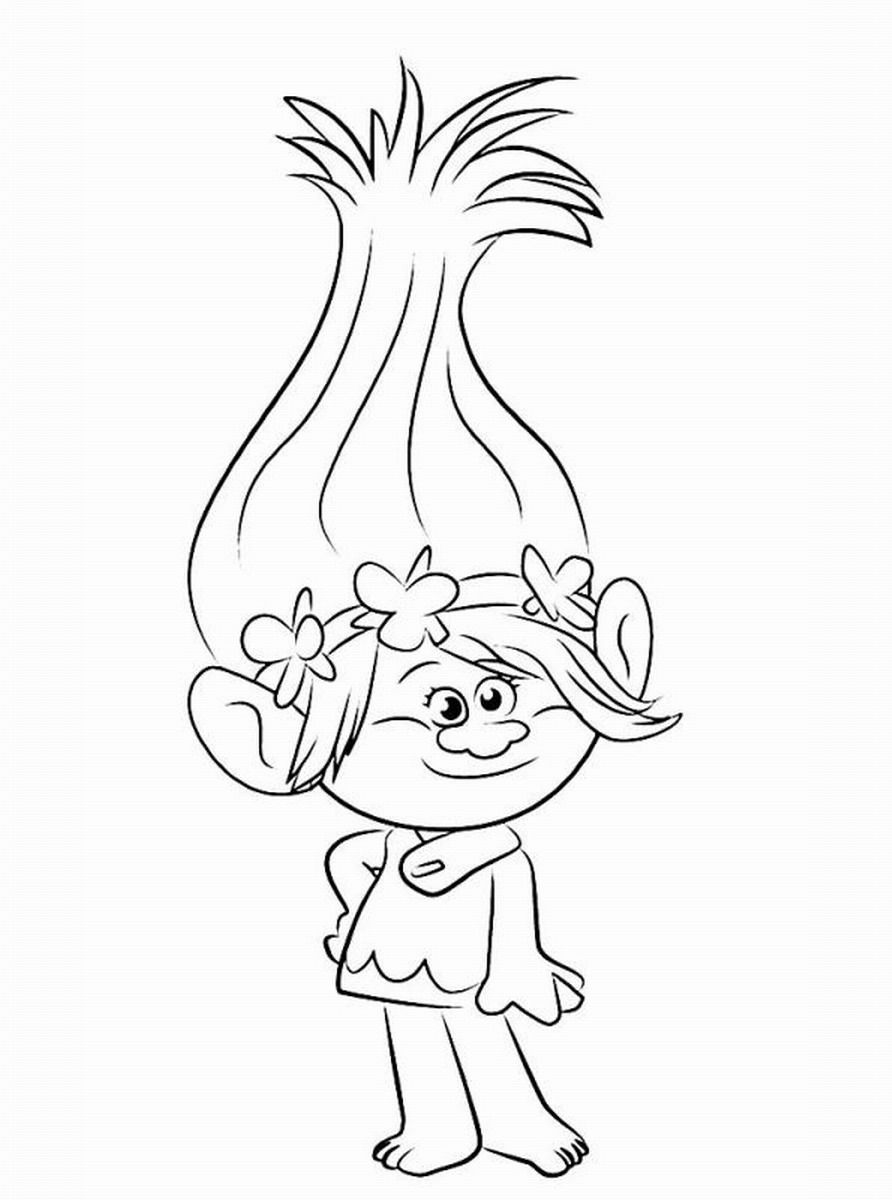 Trolls Glitter Pencils Poppy Coloring Page Princess Drawings
