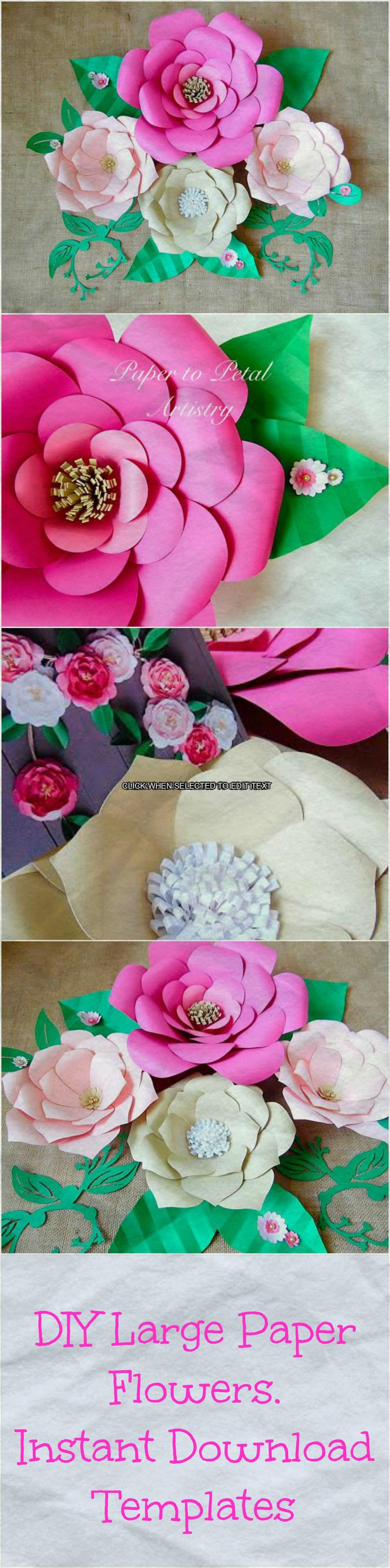 Paper flower template, Paper flower Wall, Paper flower kit, SVG ...