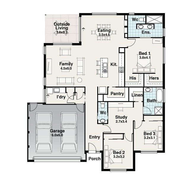 Mackkcon Homes Hamilton House Builder House And Land House Floor Plans Home Builders House Plans