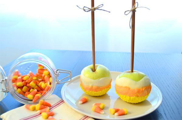 Candy corn apples
