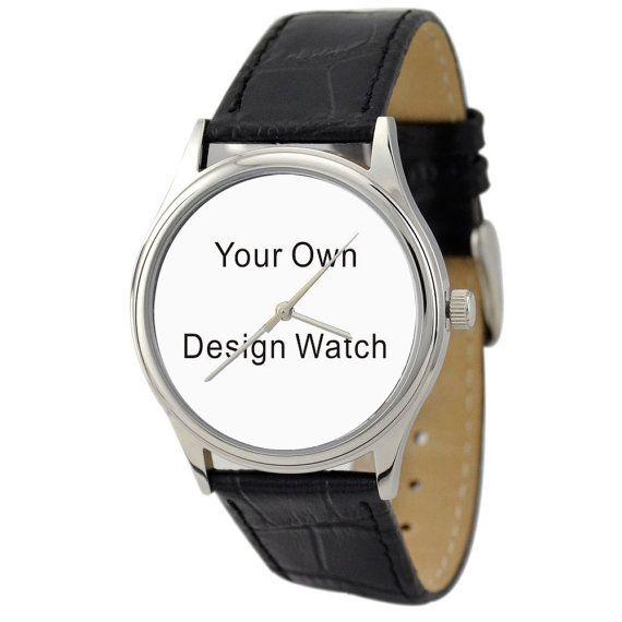 Design Your Own Watch DYOW von SandMwatch auf Etsy, $42.00 mit unserem hochzeitsbild und goldenem rahmen. das wäre perfekt
