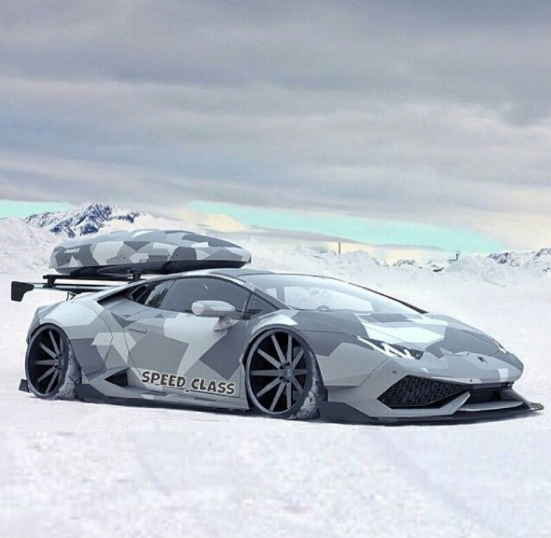 Snow Camo Lamborghini Aventador For The Car