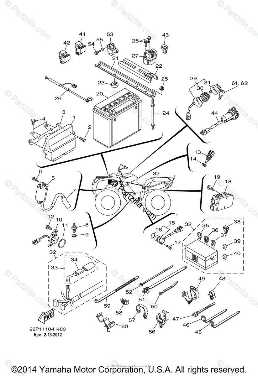 Wiring Diagram 09 Yamahah Kodiak In 2020 Kodiak Diagram Yamaha Atv