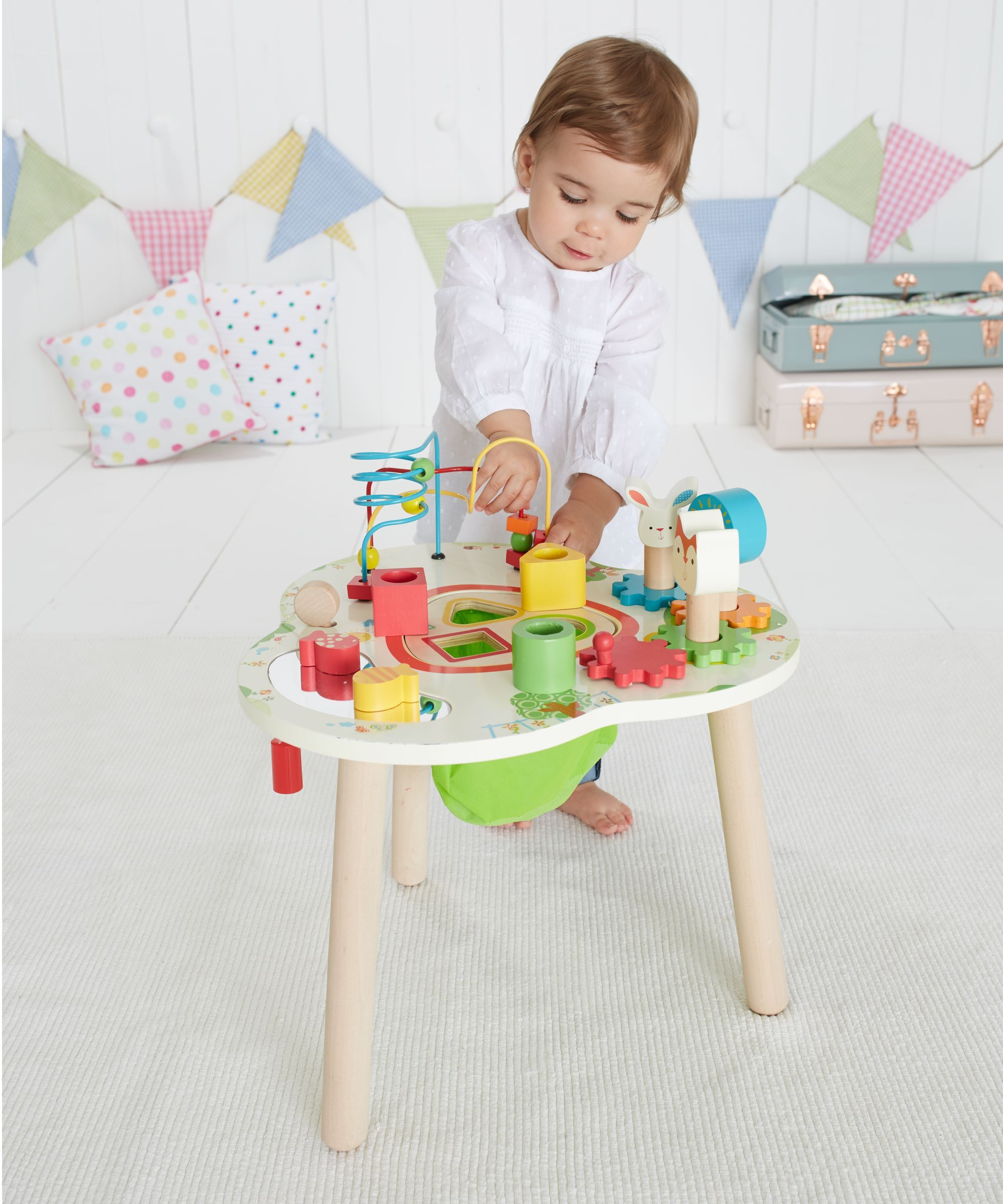 activity table - wooden activity table