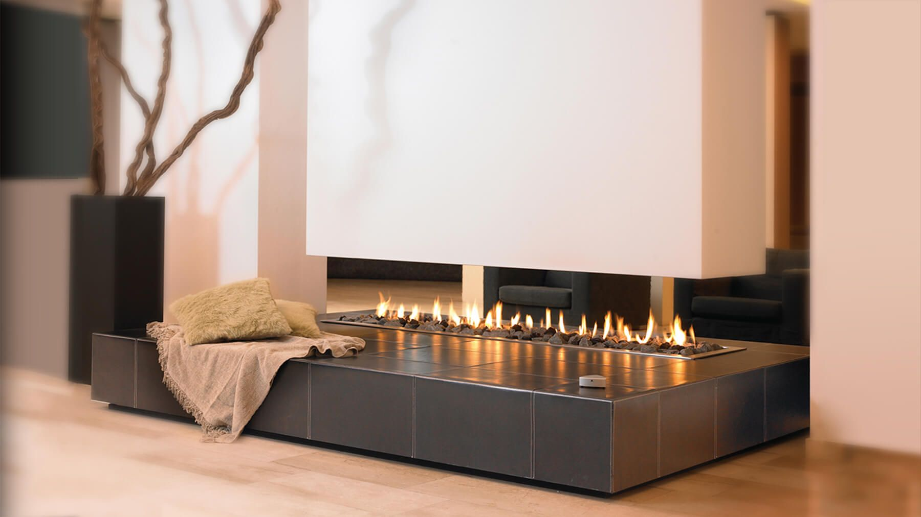 This suspended designer fireplaces transforms a fireplace into a piece of  furniture. See how our suspended designer fireplaces could be incorporated  into ...