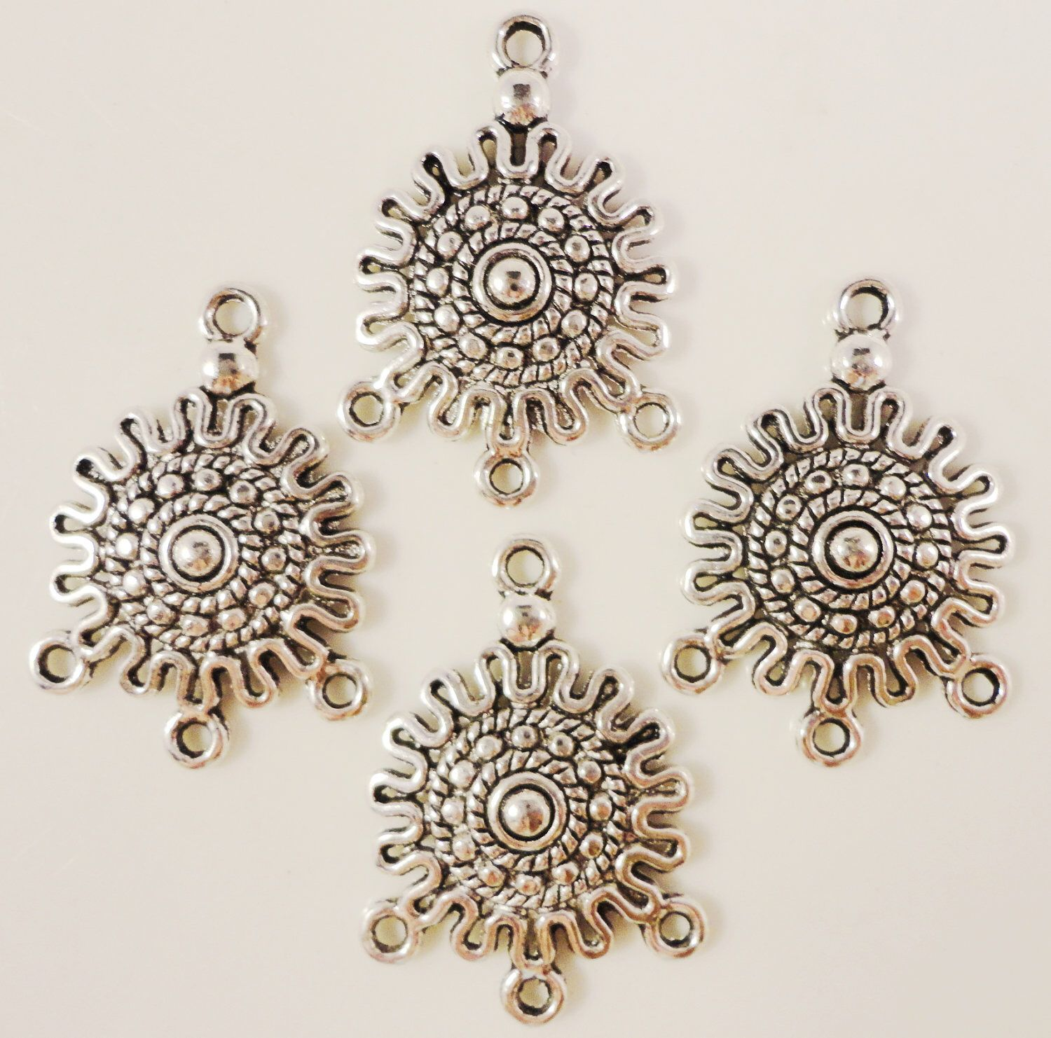 Chandelier earring findings 26x19mm antique silver tone metal chandelier earring findings 26x19mm antique silver tone metal earring connector lead free jewelry making jewelry findings 3 pairs 6pcs arubaitofo Image collections